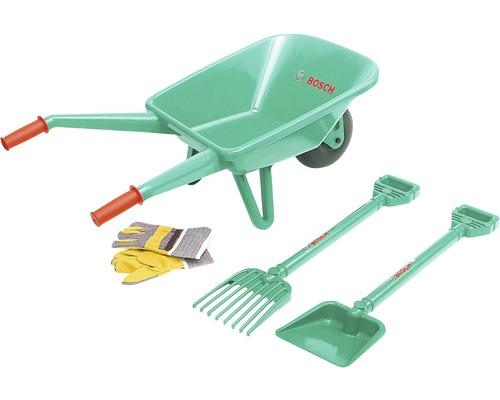 Kit d''outils de jardinage Bosch avec brouette, Theo Klein