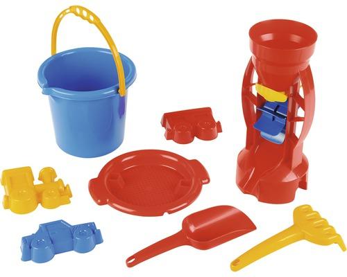 Kit seau Theo Klein avec moulin à sable, 8 jouets