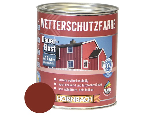 Peinture de protection contre les intempéries couleur bois rouge suède 750ml