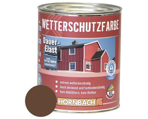 Peinture de protection du bois contre les intempéries marron 750ml