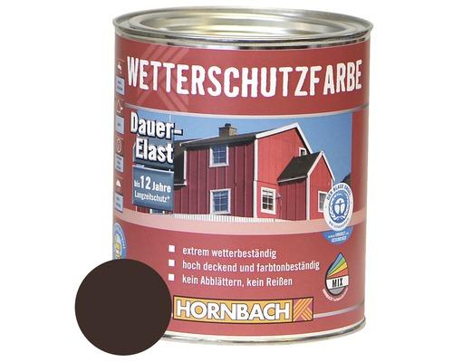 Holzfarbe Wetterschutzfarbe dunkelbraun 750ml