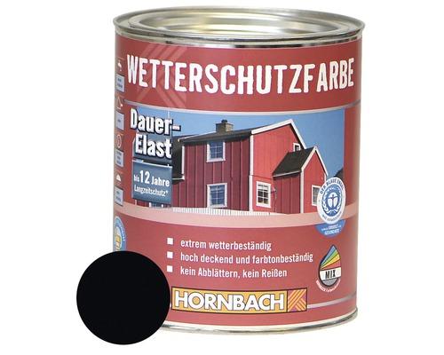 Holzfarbe Wetterschutzfarbe schwarz 750ml
