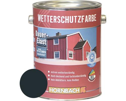 Peinture de protection du bois contre les intempéries gris anthracite 2.5l