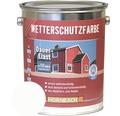 Peinture de protection du bois contre les intempéries blanc 5l