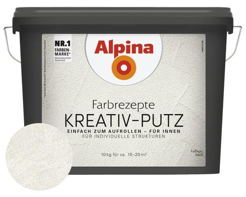 Peinture à effet Alpina mélange enduit créatif blanc 10 l