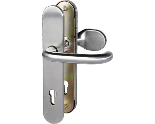Ferrure de protection porte de maison cylindre profilé (72mm) acier inoxydable