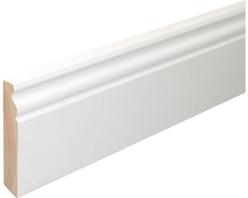 Sockelleiste Konsta SF380 Fichte weiß lackiert 18x96x2400 mm