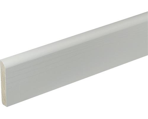 Sockelleisten Holz Weiß Lackiert sockelleiste konsta sf377 kiefer weiß lackiert 10x58x2400 mm