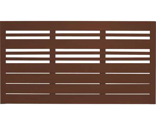 Clôture basse Reddy 180x90 cm, brun