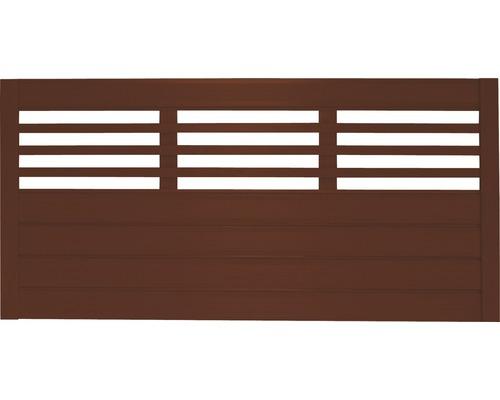 Clôture basse Style 180x90 cm, brun