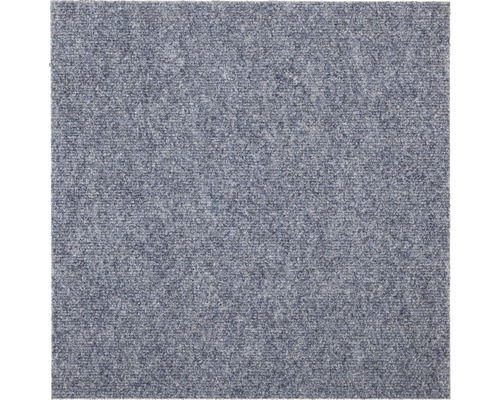 Dalle de moquette Rex grise argentée 50 x 50 cm