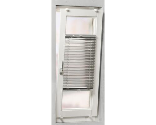 Soluna Store vénétien en aluminium avec guidage latéral, argenté, 70x130 cm