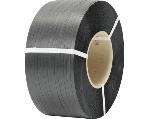 Bande de cerclage en polypropylène 12 x 0,55mm noyau 20cm noir