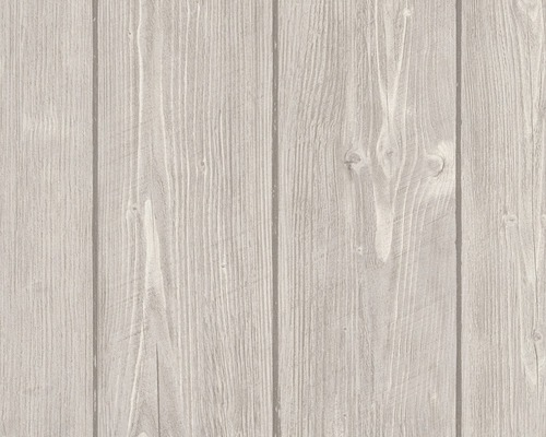 Papier Peint Intissé 8968 27 Woodn Stone Bois Beige Anthracite