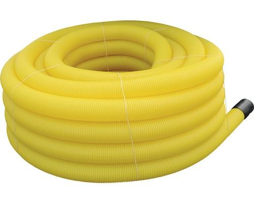 Tube de drainage jaune ondulé LN 100 longueur 50 m