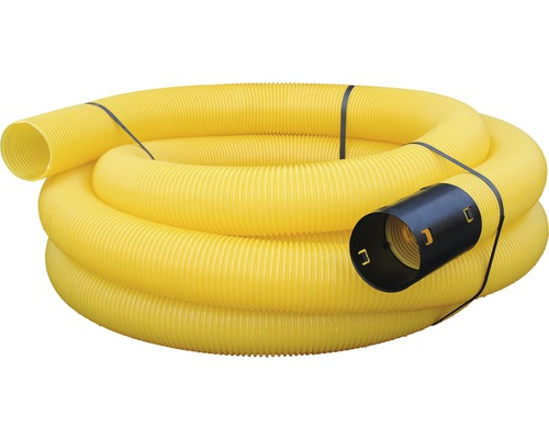 Tuyau vide jaune sans rainure ondulé NW 100 longueur 10 m
