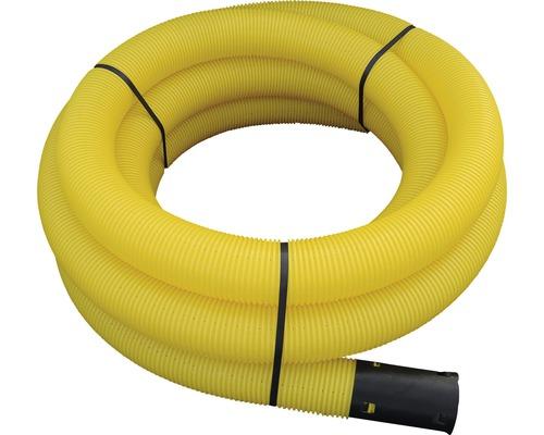Tube de drainage jaune fendu LN 100 de 10 m de long