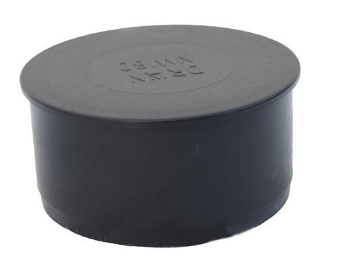 Bouchon pour tube de drainage LN 80 mm noir