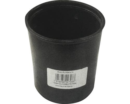 Manchon double avec butée pour tube de drainage LN 80 mm noir