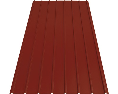 Tôle trapézoïdale PRECIT H12 brown red RAL 3011 1500 x 910 x 0,4 mm