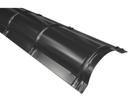 Bande faîtière semi-circulaire PRECIT anthracite grey RAL 7016 2 m