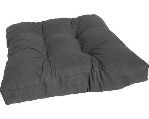 Coussin en coton assise 60x60cm anthracite