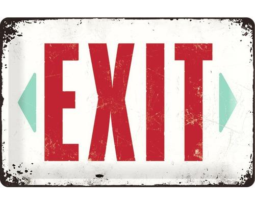 Panneau en tôle Exit 20x30 cm