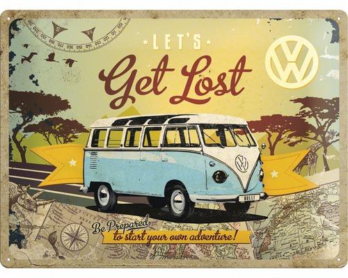 Panneau VW Bulli - Get Lost 30x40 cm
