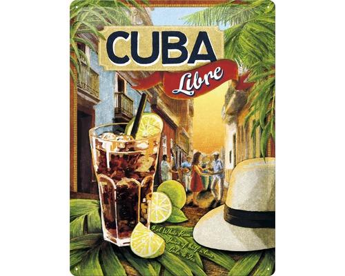 Panneau en tôle Cuba Libre 30x40 cm