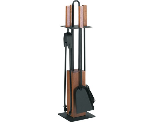 Serviteur de cheminée noir 4 pièces 21.02.953.2