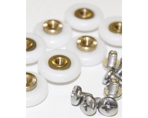 Roulettes pour douches avec accès d'angle Sunny D2909 8 pièces