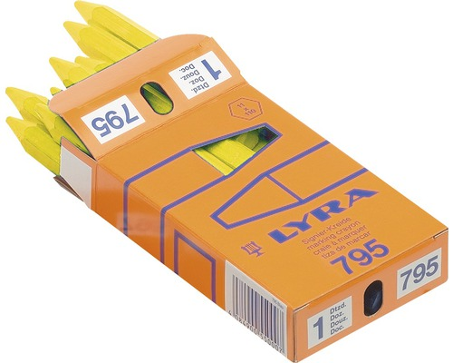 Signierkreide Lyra Ø 11 mm gelb 12er Pack