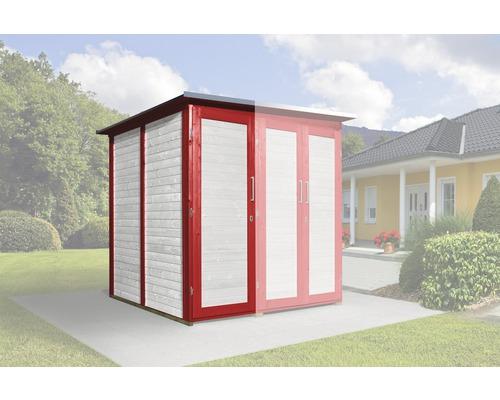 Armoire modulaire SaveBike pour weka Garten Q 224x71cm rouge-blanc