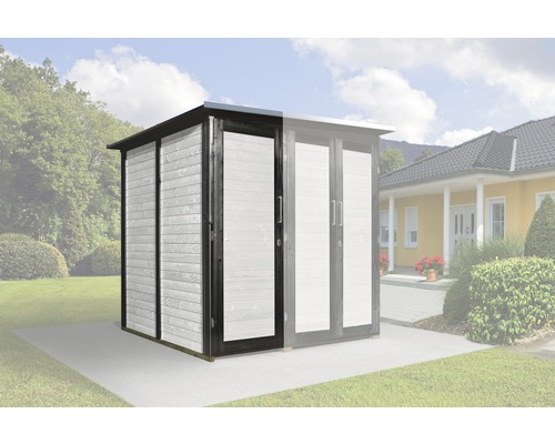 Armoire modulaire SaveBike pour weka Garten Q 224x71cm anthracite-blanc
