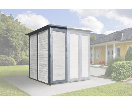 Armoire modulaire SaveBike pour weka Garten Q 224x71cm gris-blanc
