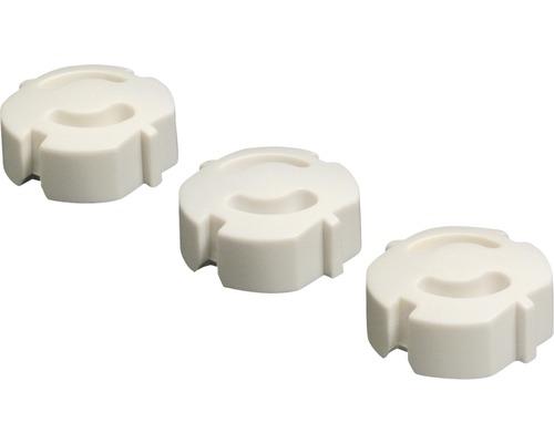 Cache-prises blancs 5 pièces