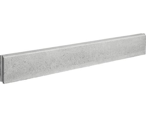 Bordure pour gazon en béton plate grise de 100x15x5 cm