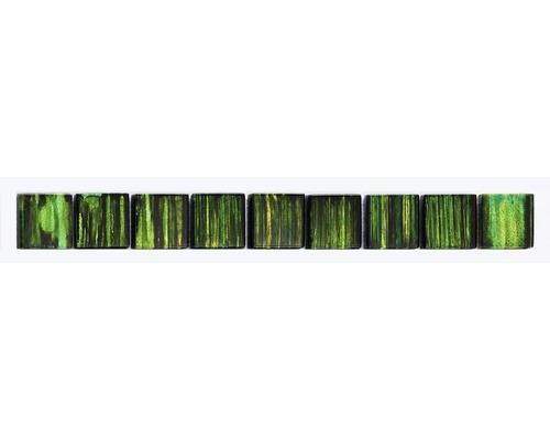 Frise verre vert 3x28.8cm