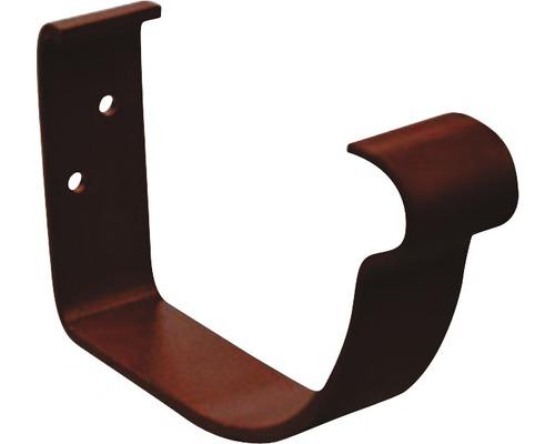 Precit Rinnenhalter kurz 80mm chocolate brown NW 125mm