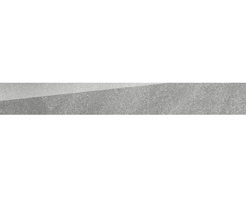 Plinthe Helios gris poli 8 x 60 cm