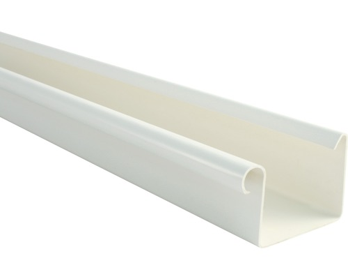 Chéneau rectangulaire Marley diamètre nominal 70mm blanc longueur: 2,00m