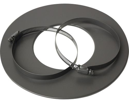 Rosette für Alu-Flexrohr Ø80 mm pulverbeschichtet grau lackiert