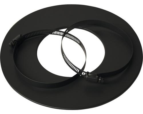 Rosette pour tube flexible en alu Ø 80 mm revêtu par poudre gris