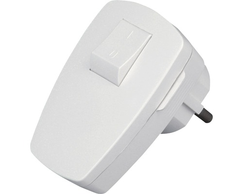 Fiche de terre avec interrupteur blanche