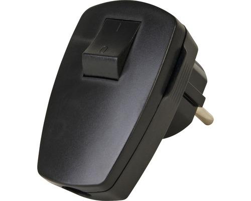 Fiche de terre avec interrupteur noire