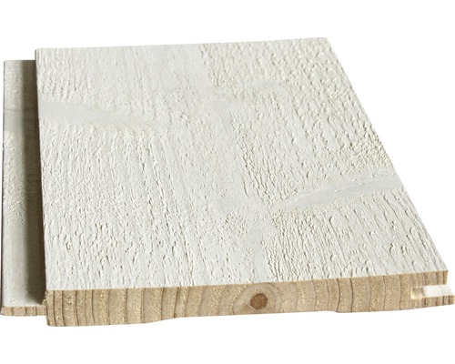 Lame à rainure épicéa A/B blanc pose sans fin possible 10,5x146x2050 mm