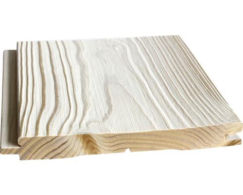 Profilé en biseau Konsta épicéa non traité struct. blanc 21x195x2650 mm