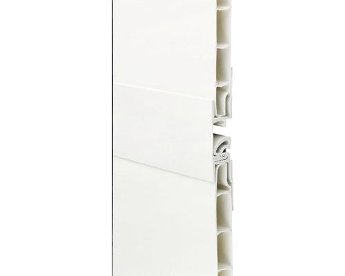 Baguette de liaison en PVC blanc 2600 x 27 mm