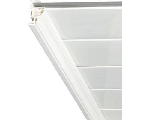 Moulure creuse en PVC blanc 2600 x 45 mm