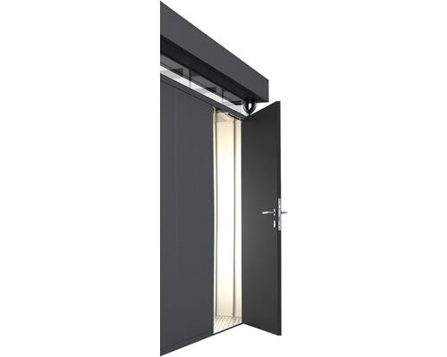 Porte supplémentaire CasaNova droite, 95x200 cm, gris foncé métallique